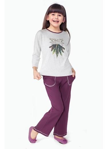 Doremi Kız Çocuk Pijama Takımı Gri